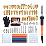 Soldering Iron Wood Burning Kit 72PCS, Jeerbly Professional Pyrography Kit - Wood Burner Tool, Embossing, Carving, Soldering Tips Arts and Crafting Supplies (red)