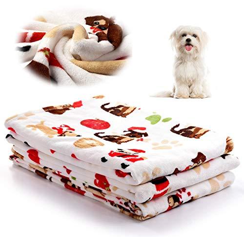 kiwitatá Cozy Flannel Fleece Machine Washable Pet Dog Throw Blanket for Small Dogs & Cats