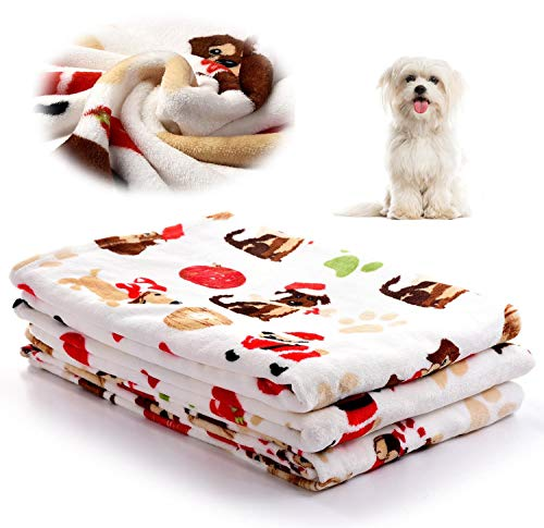 Soft Pet Flannel Blanket for Small Blankets, Warm Dog Throw Blanket Cat Sleep Mat Bed Cover