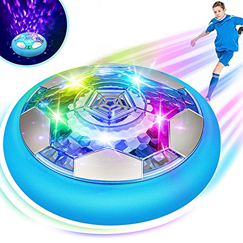 Blasland Hover Soccer Ball  Kids Toys Rechargeable Air Soccer New Floating Soccer with Led Starlights Foam Bumpers to Protect Furniture Indoor Hover Ball Best Football Toy Gift for Boys amp Girls