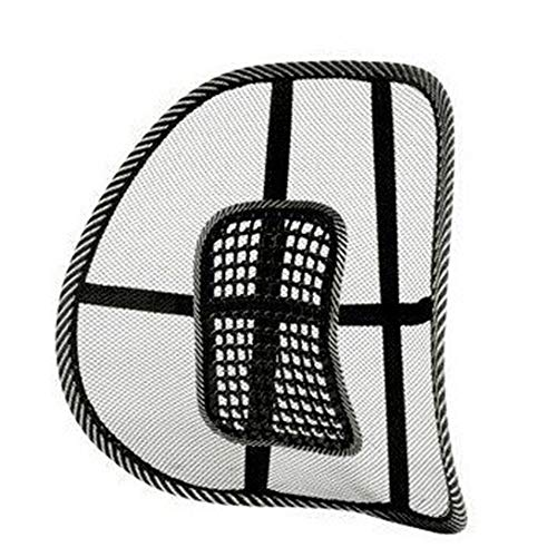 JXYNB Mesh Back,40 * 40cm,go Lumbar Support Mesh Back Cushion for Car Seat Desk Office Chair,for Orthopedic Driving Comfort and Posture Support, Black