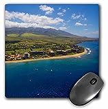3D Rose'Kaanapali Maui Hawaii' Matte Finish Mouse Pad - 8 x 8' - mp_230690_1
