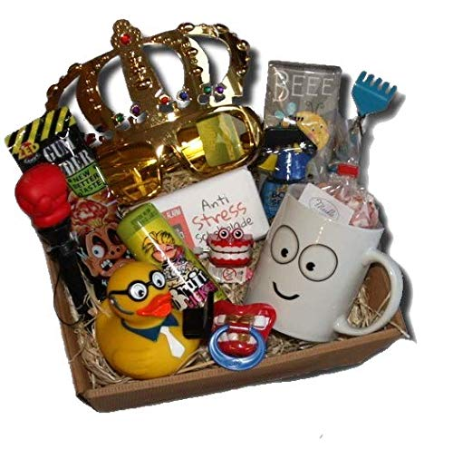 Lustiges Geschenke Präsentkorb Abschied Kollege   witziges Abschiedsgeschenk Büro