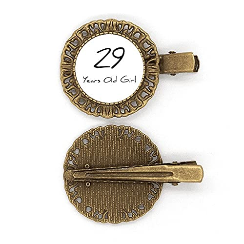 29 Jahre alt Girl Age Art Deco Geschenke Mode Haarnadel Haarschmuck Brosche Haarklammer Barrette