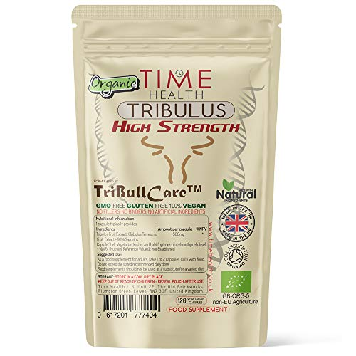 New: Organic Tribulus Terrestris Extract Capsules - TriBull Care Natural Booster & Performance Enhancer - High in Saponins - Zero Additives - UK Made