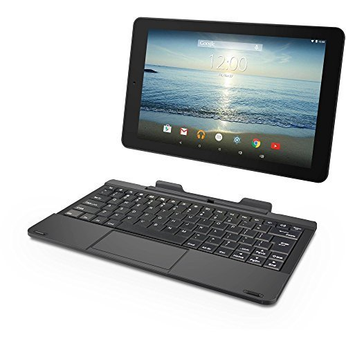RCA Viking Pro 10' 2-in-1 Tablet 32GB Quad Core Charcoal Laptop Computer with Touchscreen and Detachable Keyboard Google Android 6.0