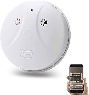 Verborgen Spy Camera, WiFi 1080P Rookmelder Nanny Spy Cam Met 90 ° Groothoek en Bewegingsdetectie voor Home Security & Sur...