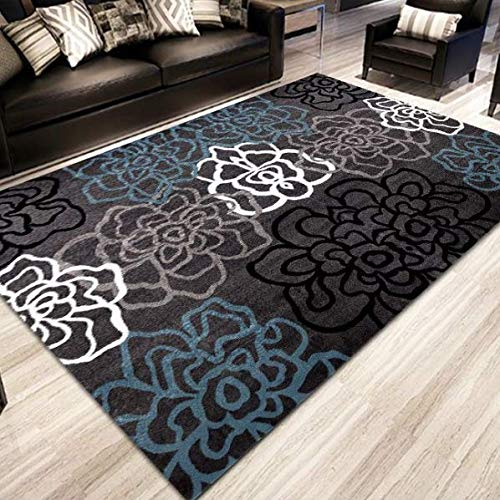 QAZW Area Rugs For Living Room Rugs Vintage Carpets For Bedroom Abstract Paint Effect Nursery Rugs Carpet Geometric Pattern Kids Mat
