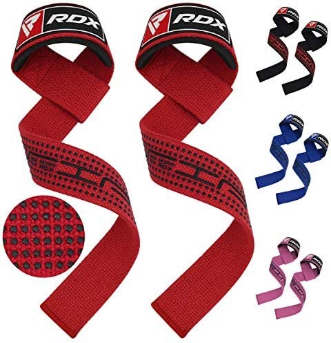 RDX Weight Lifting Straps Pair Padded Wrist Support Non Slip Flex Gel Grip Great for Powerlifting product image