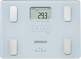 OMRON BF212 - Báscula de baño digital con análisis de composición corporal, porcentaje de grasa corporal, IMC, memoria para 4 personas
