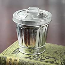 Factory Direct Craft Miniature Galvanized Trash Cans | Set of 2