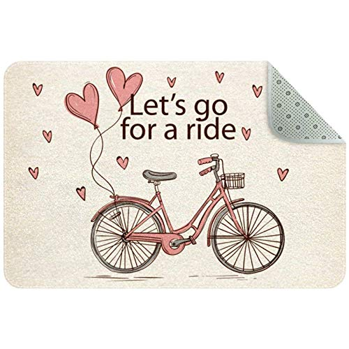 Alfombra rectangular para niños, para dormitorio, sala de juegos, decoración de pisos, estilo vintage Let's Go For A Ride