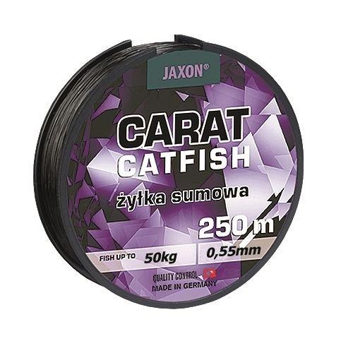 Jaxon Angelschnur Carat Catfish Welsschnur monofile Wels 250m Spule 0,45/0,50/0,55mm (0,50mm/40kg)