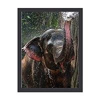 INOV インディアンゾ遊ウ 水 絵画 インテリア フレーム装飾画 アートポスター 額入り(30cm*40cm) 壁画 アートパネル 油絵 壁飾り 壁掛け 木枠付き
