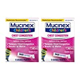Mucinex Children's Chest Congestion Expectorant Mini-Melts, Bubblegum, 12 Count (Pack of 2)