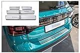 tuning-art L373-XF513-1 Protección Parachoques y de umbral, Color:Plata
