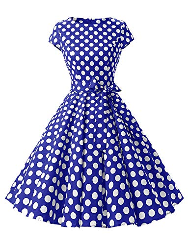 Shangrui Woman Dress Hepburn 50's Style Anni '60 Stile Manneron Abito Abito Vintage Vestito a Pois
