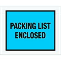 Ship Now Supply SNPL407 Packing List Enclosed Envelopes 7 x 5 1/2 5width 7 Length Blue (Pack of 1000) [並行輸入品]