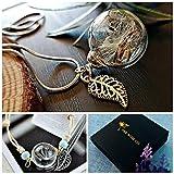 Chaîne en argent sterling Collier de pissenlit et bracelet de pissenlit Ensemble-cadeau - Ensemble de bijoux assorti...