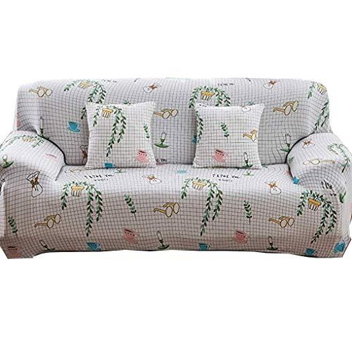 Wyxy Cojín para sofá Four Seasons Universal Antideslizante Jane Nordic Acerca de la Moderna Cojín Trasero de algodón Toalla Todo Incluido Funda Universal Funda Completa (Color: Blanco, Tamaño: 2