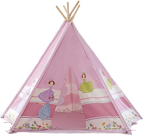 barato y de alta calidad Mogicry Pine Five Sides Princess Castle Tent Cartoon Cartoon Cartoon Toy Room Game Indio Hogar Teepee Bebé Presente de cumpleaños para Niños Niños juegan Carpa para Interiores al Aire Libre 1+ (Color   Tent)  Sin impuestos