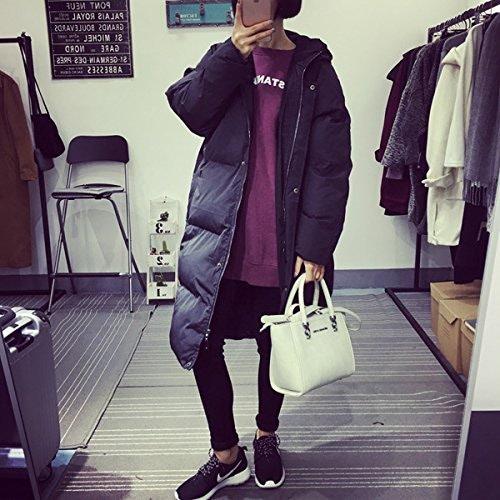 Xuanku L'épaississeHommest D'Hiver De Coton Clip-Cap Sur Des T-Shirts, Vestes Et Long Femme Coton Lache Reliant Cap Coat VêteHommests De Coton