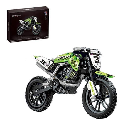 NFtop Technic 425 Piezas Moto Motocicleta Set de Construcción para KX450, Compatible con Lego