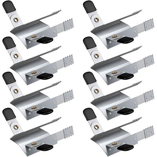 BASI® Rolladenklemme 4 Paar Einbruchschutz Klemmsicherung für Rolläden Fenster Rolladensicherung