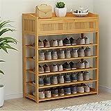 FEIYIYANG Zapatero Zapato de bambú Simple Gabinete de Zapatos Zapatos Multi-Capa Zapatos Estante Doble Doble Estante de Zapato a Prueba de Polvo con cajón Muebles for el hogar Zapateros (Size : A)