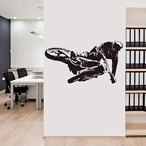 Slaapkamer kind mountainbike muursticker jongen jongen kamer muursticker thuis woonkamer decoratie sticker behang fiets kunst muurschildering