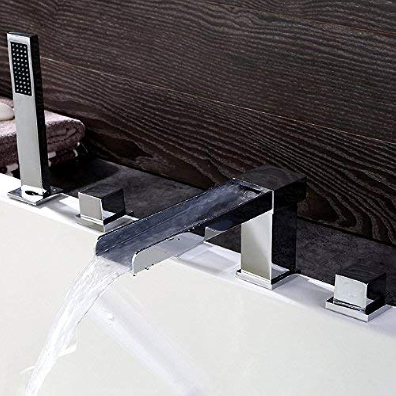 BDYJY  Moderner Chrom-Wasserfall-Mischbatterie mit Handbrause