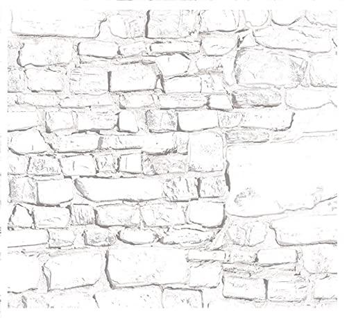 Melody Jane Casa de Muñecas Blanqueado Piedra Pared Exterior Bricolaje Tarjeta Hoja 1:12 Escala