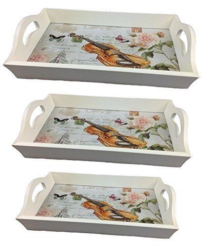 GMMH houten dienblad viool set van 3 LN47-4 dienblad bed dienblad houten serveerschaal