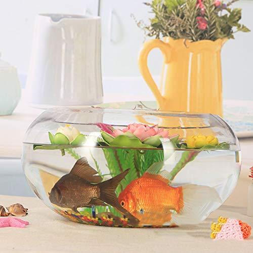 Glazen Goldfish Tank Turtle Tank Rond transparant Grote trommelcilinder Hydroponisch vaartuig Huishoudelijke vaas voor slaapkamer, keuken, kantoor, huiskamer
