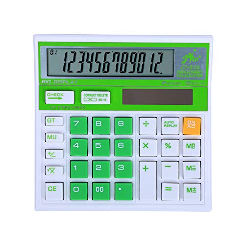 Jito 12 Digits JT-512 White- Green 1 Year Warranty Electronic Calculator