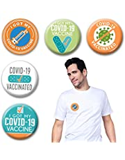 Covid Vaccination Pins 10Pack I Got My Covid-19 Vaccine Buttons, COVID-19 Coronavirus Lapel Pin, Memorial Pin Brooch Badges