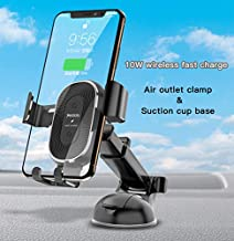 10W Wireless Fast Charging Car Phone Charger Auto Clamping Car Phone Holder