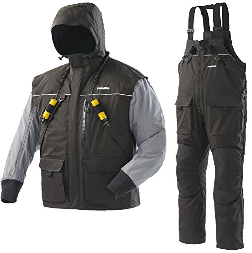 Frabill I2 Waterproof Insulated Jacket & Pant Rain Suit - Black (XX-Large 2X)