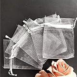 25 bolsas de organza para regalo de joyería, bolsas de orga
