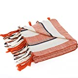 Raven's Landing Turkish Towel, 1x2m Large, Handwoven Artisan Hamam Peshtemal, Lightweight and Quick