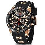 Men's Sports Watch (Multifunction,Waterproof,Luminous,Calendar) Silicon Strap Wrist Watch Fashion for Men … (Black)