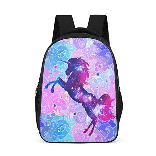 Dofeely Unicornpatroon schoolrugzakken lichtgewicht schooltas kinderen jongeren dames rugzak vrijetijdsrugzak voor camping shopping 32 cm x 18 cm x 42 cm