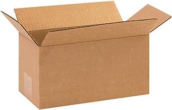 "Aviditi 1055 Corrugated Box, 10"" Length x 5"" Width x 5"" Height, Kraft (Bundle of 25)"