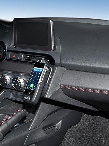 KUDA Console de téléphone (LHD) pour Mazda MX5 (type ND) à partir de 2015 (cuir véritable noir)