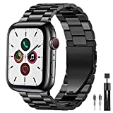 PUGO TOP Armband Replacement for Apple Watch Series 4 Series 2 and Series 1, Solid Edelstahl Metall...