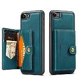Happy-L Case Compatible avec iPhone Se 2nd Generation 2020 / iPhone 7 8, étui de Portefeuille en...