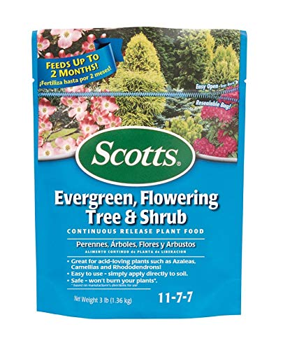 Scotts 1009101 Evergreen Flowering Tree & Shrub Food 3 Lbs