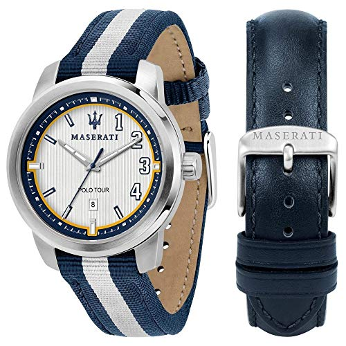 Maserati Royale Reloj para Hombre Analógico de Cuarzo con Brazalete de Nylon R8851137005