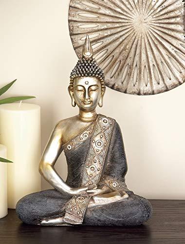 Deco 79 44247 Polystone Sitting Buddha