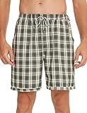 NC Pantalones cortos de pijama para hombre, de algodón, con...
